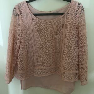 AE Lace and Silk Top